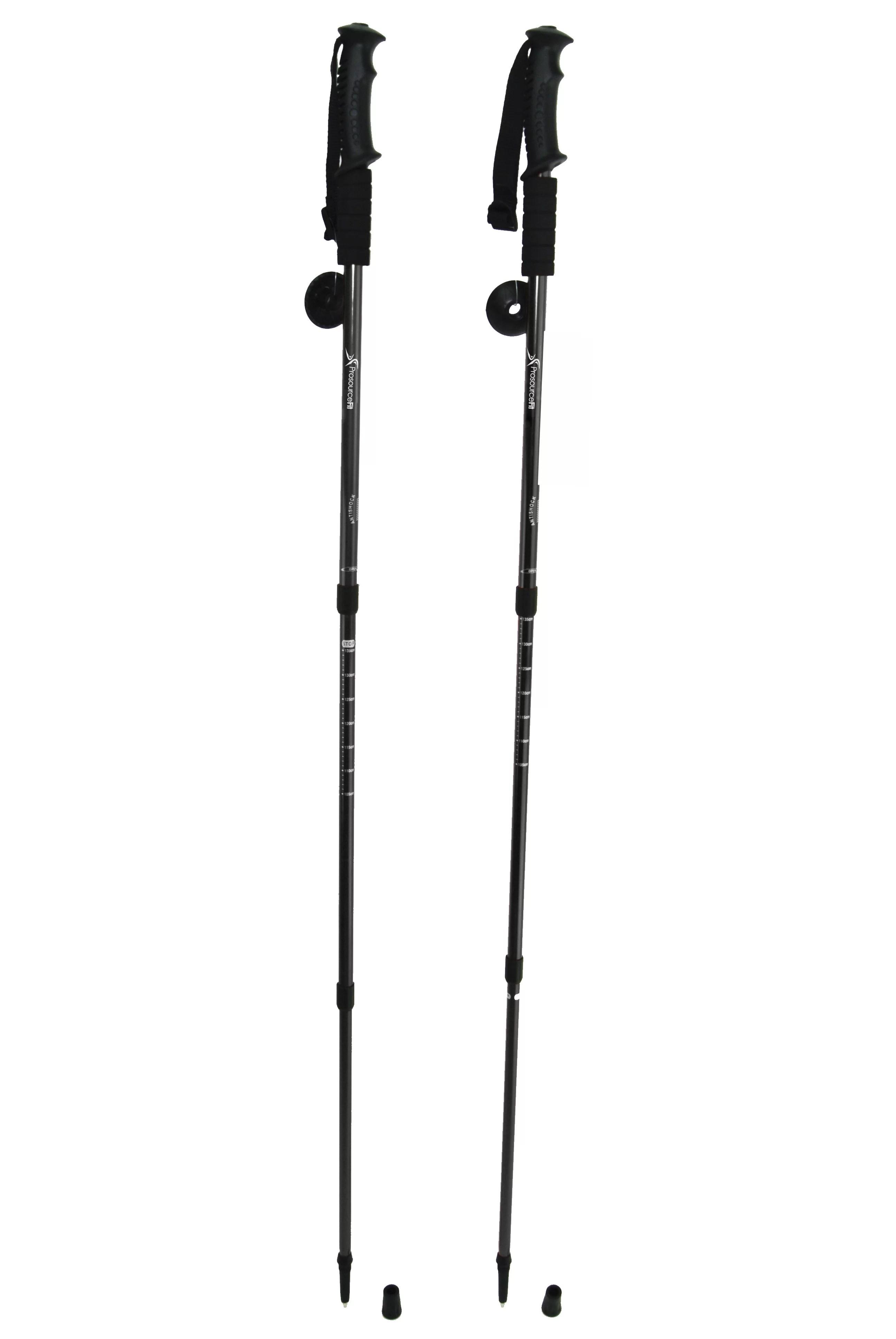 Prosourcefit Anti Shock Trekking Poles Adjustable Set Of 2 Aluminum Telescopic Poles With
