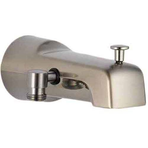 delta 6 1 2 diverter tub spout with hand shower connection available in various colors