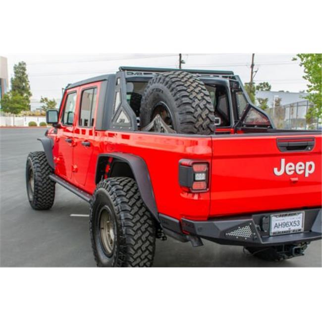 dv8 rrgl01 bolt on chase rack for jeep gladiator model