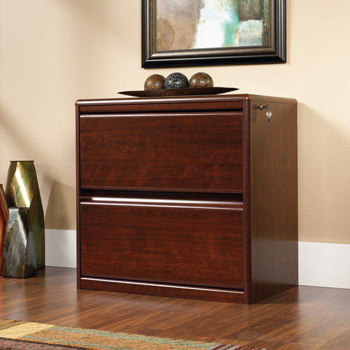 Sauder Cornerstone Lateral File Cabinet Classic Cherry