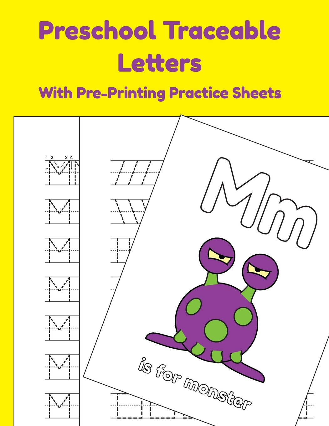 Preschool Traceable Letters With Pre Printing Practice