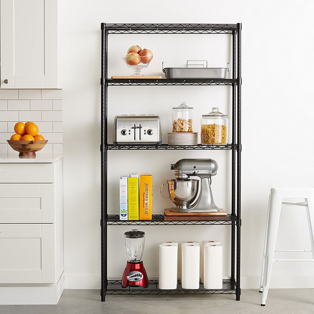 5 tier kitchen storage shelves heavy duty height adjustable wire shelving rack for home nsf certification storage racks and shelving wire storage