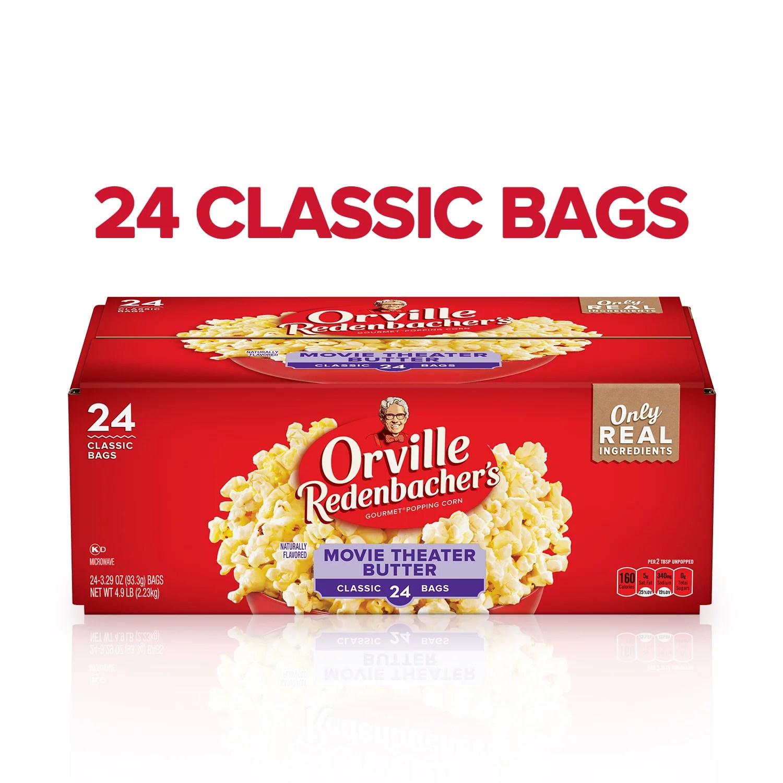 orville redenbacher s movie theater butter microwave popcorn 3 29 oz 24 ct walmart com