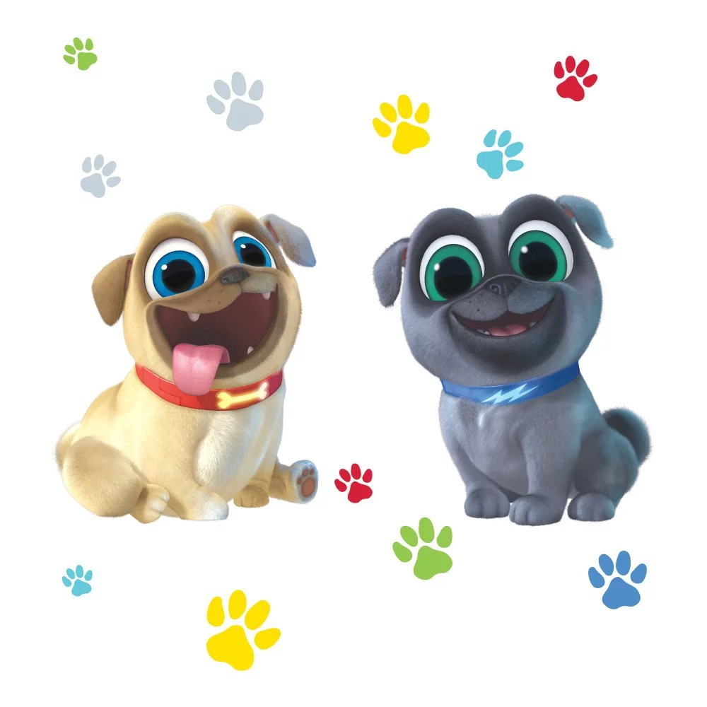 Puppy Dog Pals Puppy Paw Prints Bingo Rolly Edible Cake Topper Image Abpid00175v1 Walmart Com Walmart Com
