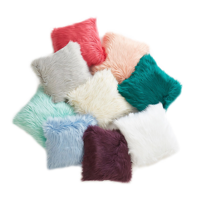 mainstays flokati decorative throw pillow 16 x 16 classic mint walmart com