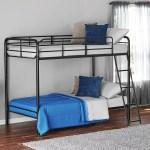 Mainstays Twin Over Twin Metal Bunk Bed Black Walmart Com Walmart Com