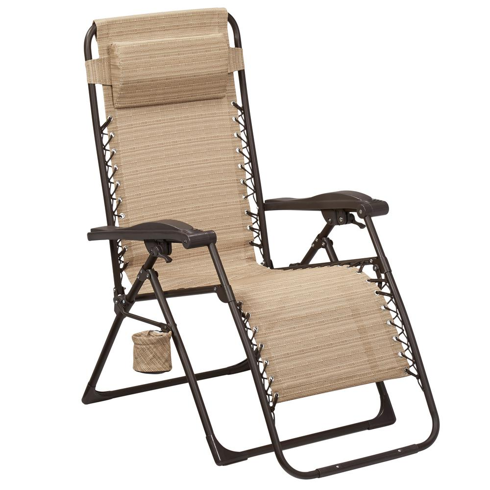 hampton bay charles 20 mix and match zero gravity sling outdoor chaise lounge chair in