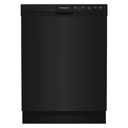 """FRIGIDAIRE Dishwasher,Black,25"""" Depth,24"""" W,120V FFBD2412SB"""