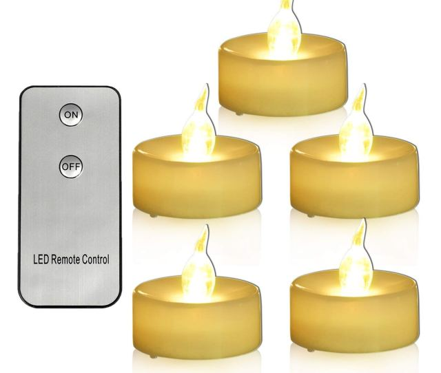Pack Tea Light Battery Operated With Remote Flickering Warm White Led Tealights   Inch Mini