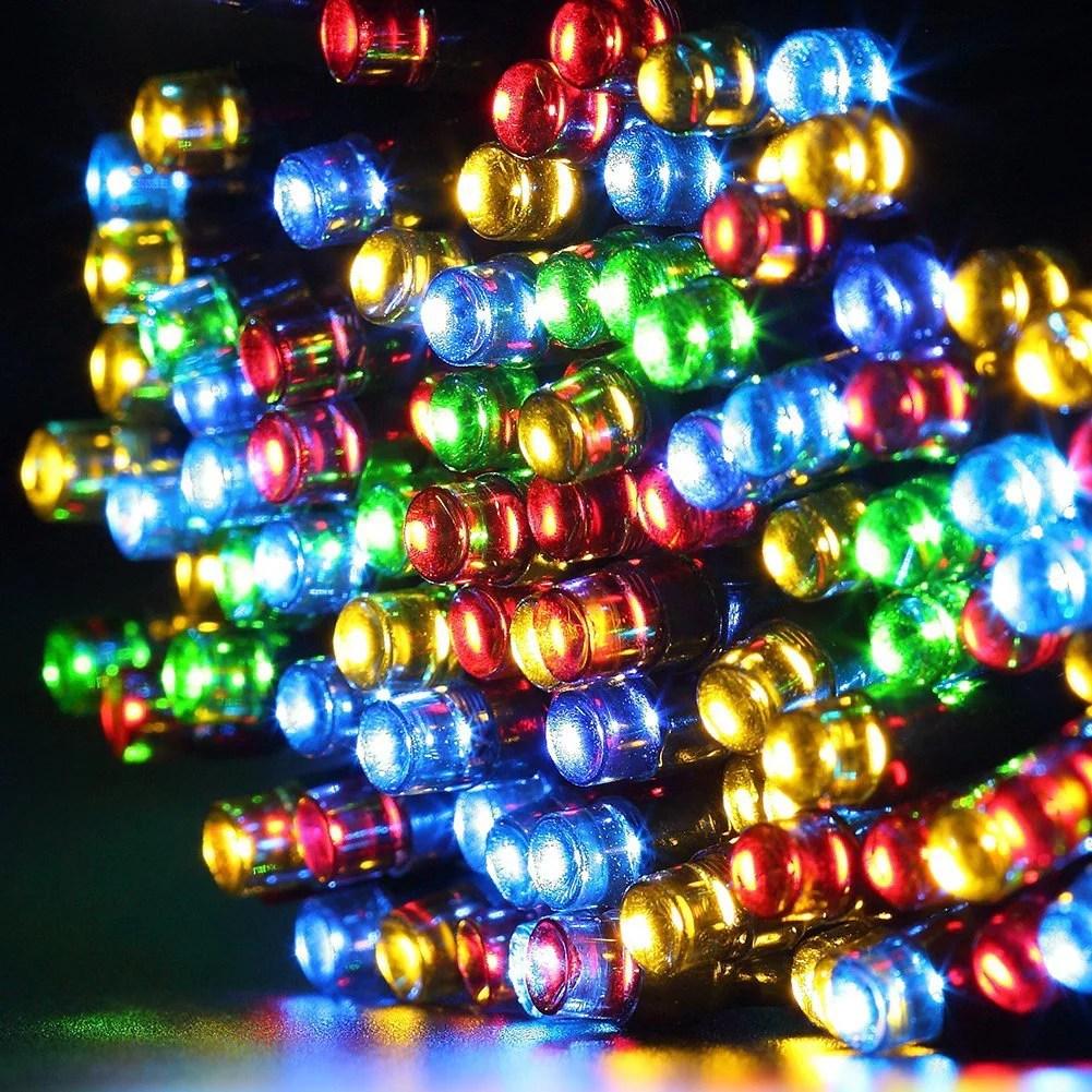 qedertek christmas lights solar string lights 72ft 200 led fairy lights 8 modes ambiance lighting for outdoor patio lawn landscape garden home wedding