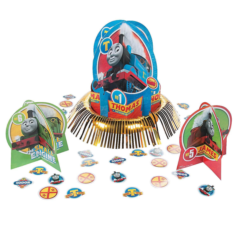 Thomas The Train Table Decor Kit Party Supplies 23 Pieces Walmart Com Walmart Com