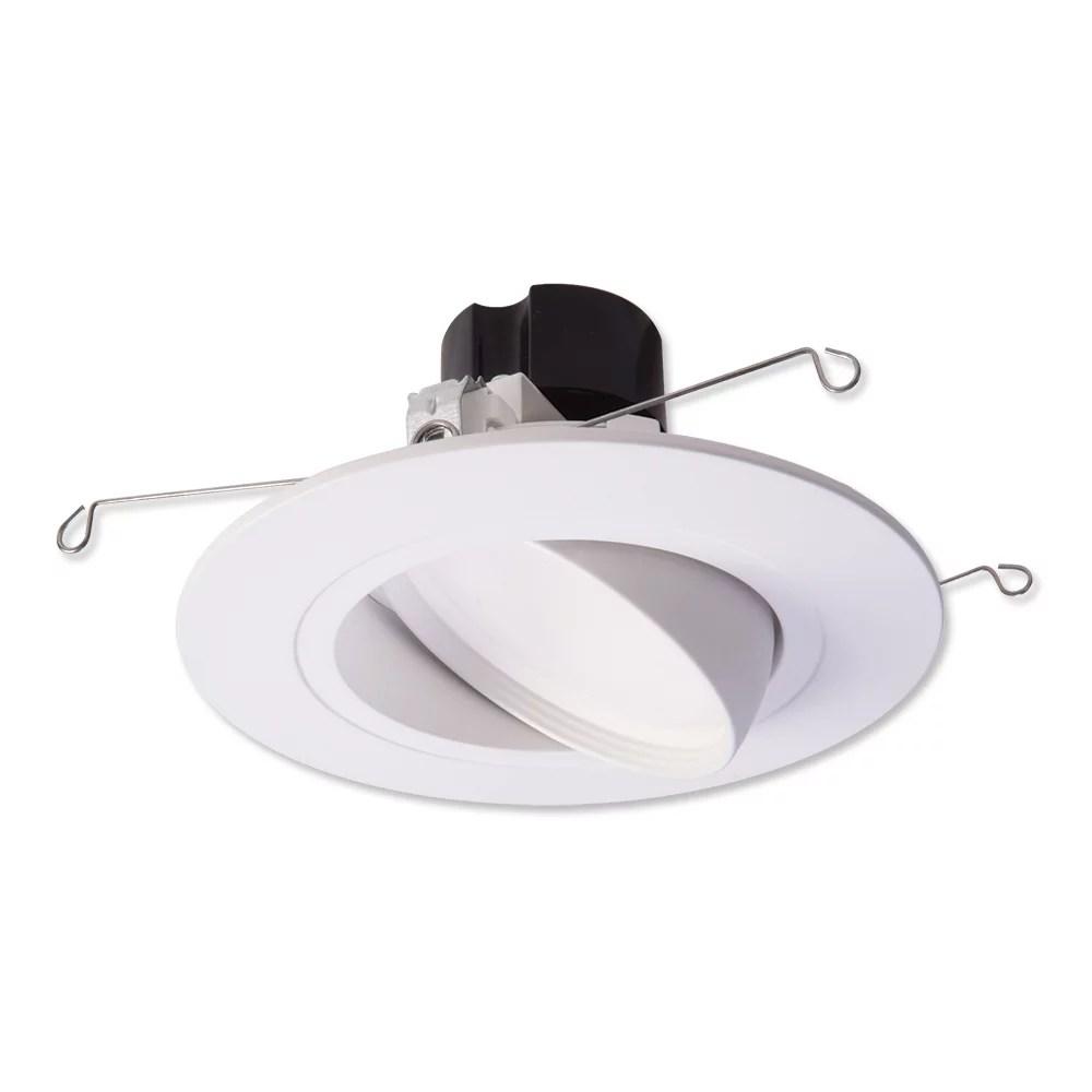 halo recessed lighting ra5606930whr 5 6 white led adjustable gimbal vwfl module