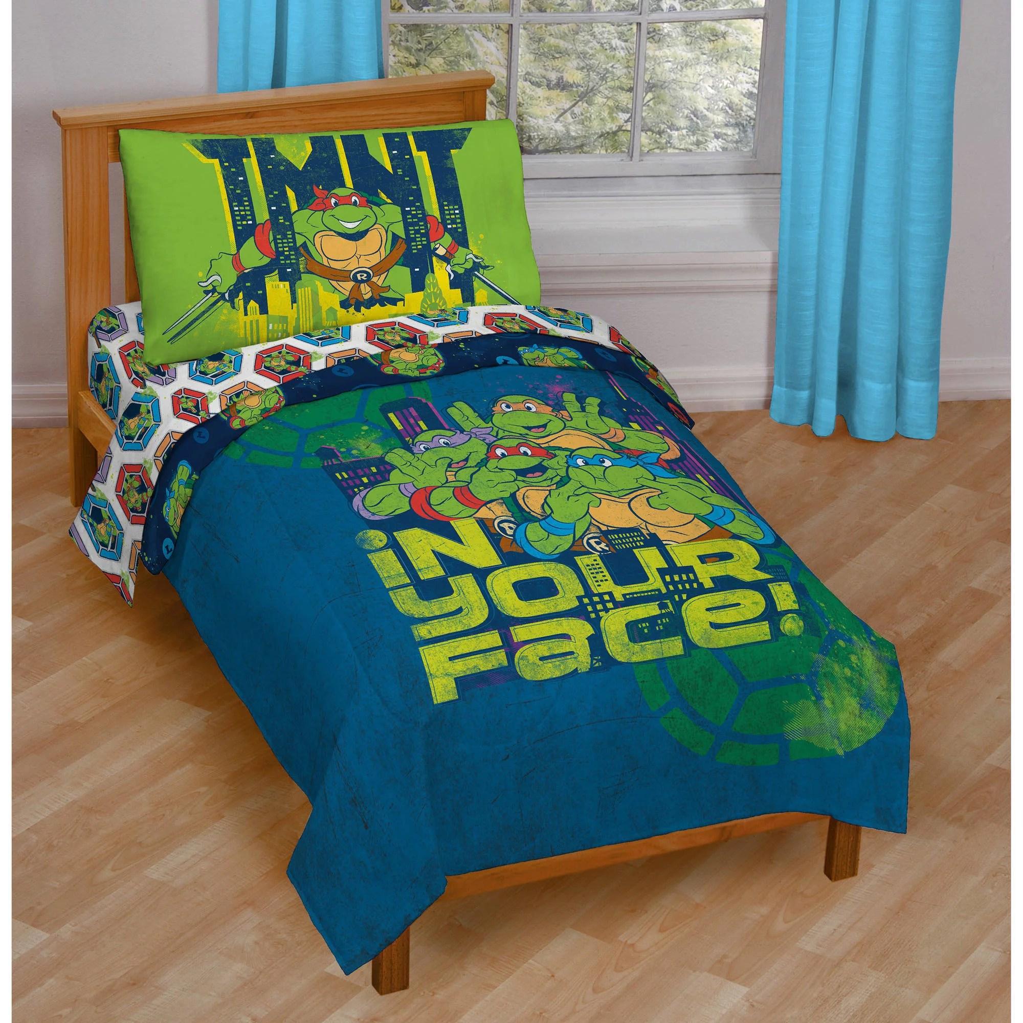 nickelodeon teenage mutant ninja turtles 4-piece toddler bedding