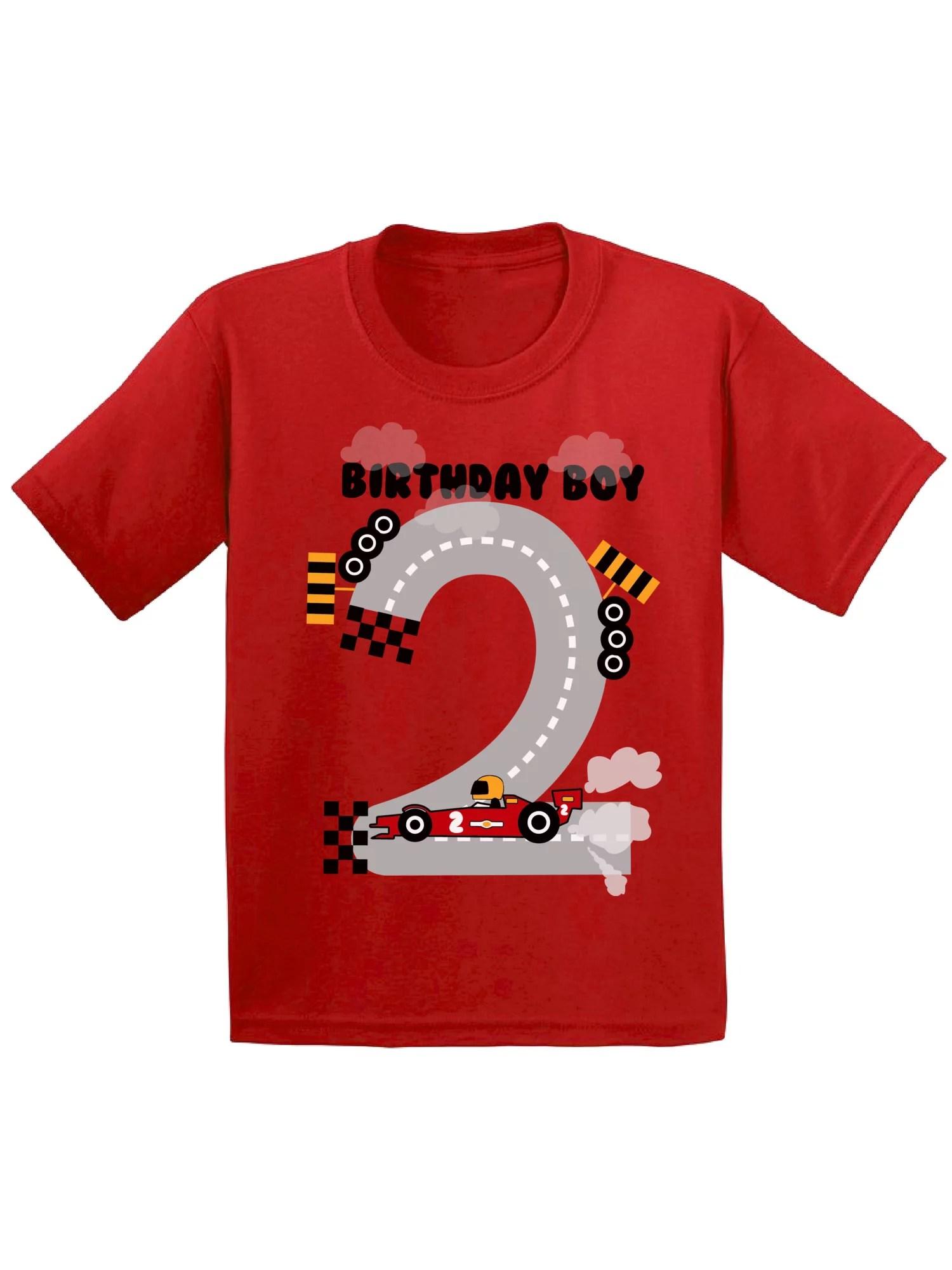 Awkward Styles Awkward Styles Birthday Boy Race Car Infant Shirt Birthday Gifts For 2 Year Old Baby Boy Race Car Birthday Party For Boys 2nd Birthday Tshirt For Baby Second Birthday