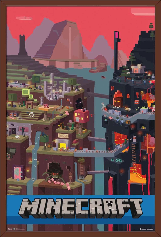 minecraft cube poster walmart com