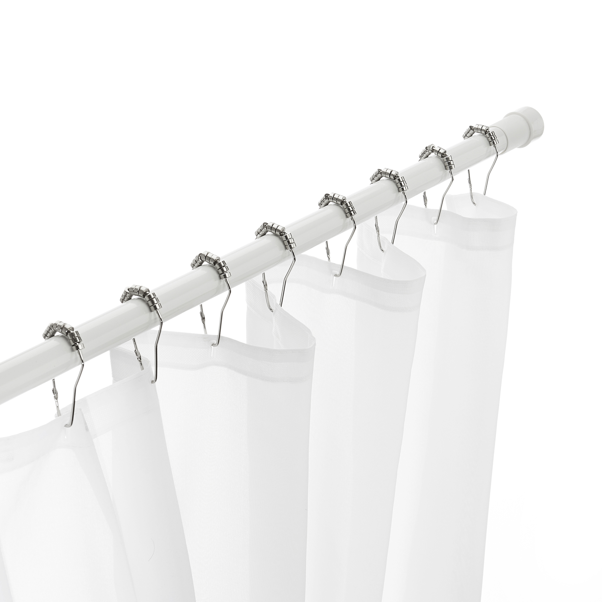 excell 46 86 adjustable glide n set tension shower curtain rod white