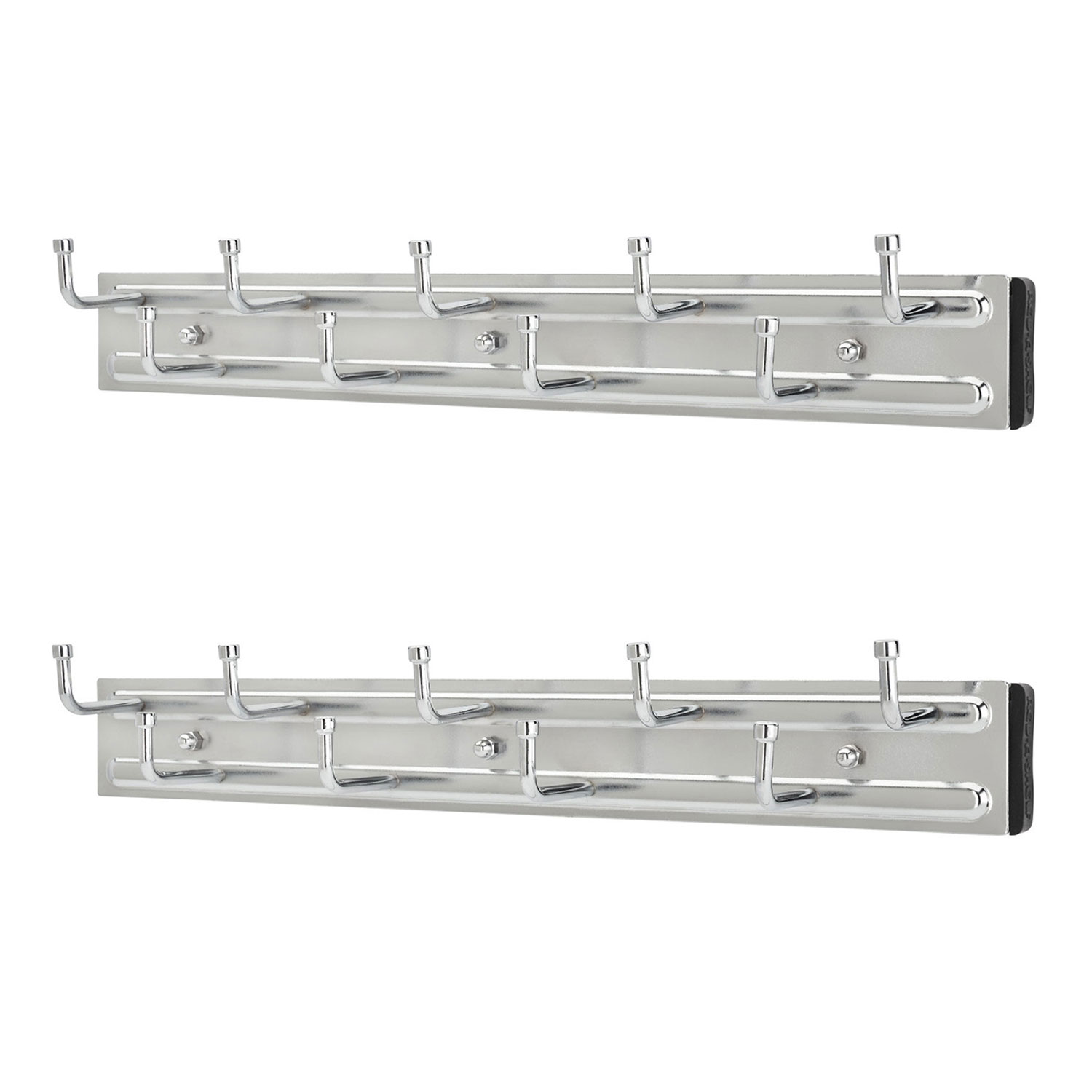 rev a shelf brc 14cr 14 inch wall mounted pullout belt rack chrome 2 pack