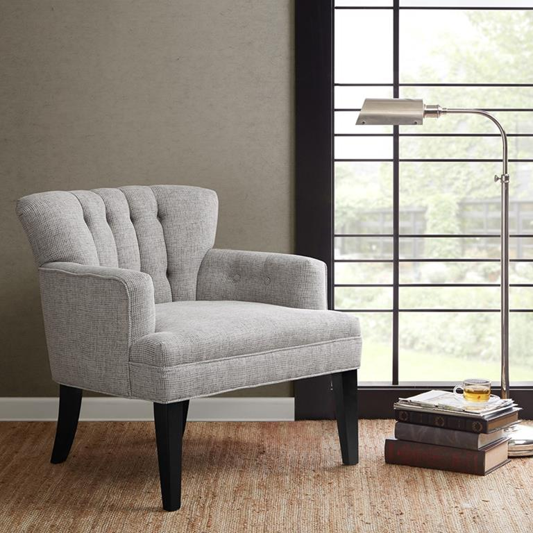 Madison Park Riveria Accent Chair In Grey