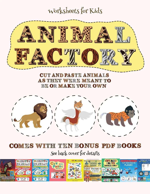 Worksheets For Kids Worksheets For Kids Animal Factory