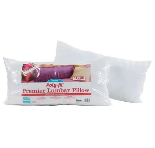 poly fil premier lumbar decorative pillow insert 14 x 28
