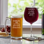 Personalized Wedding Planning Glassware Set Set Available In Beer Mug Wine Glass 2 Wine Glasses Or 2 Beer Mugs Walmart Com Walmart Com