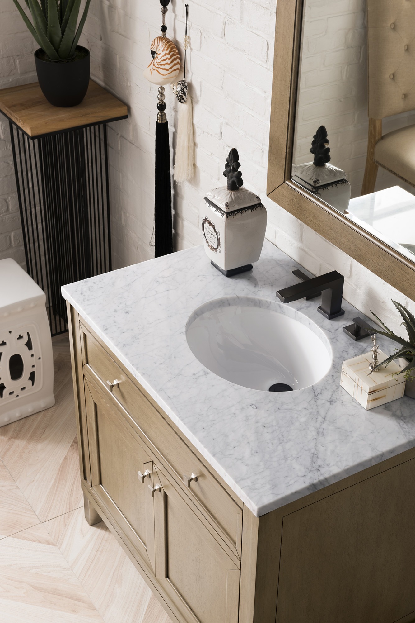 James Martin Furniture 305 V36 Www 3ocar 36 In Chicago White Washed Walnut Single Bathroom Vanity With 3 Cm Carrara White Top Oval Sink Walmart Com Walmart Com