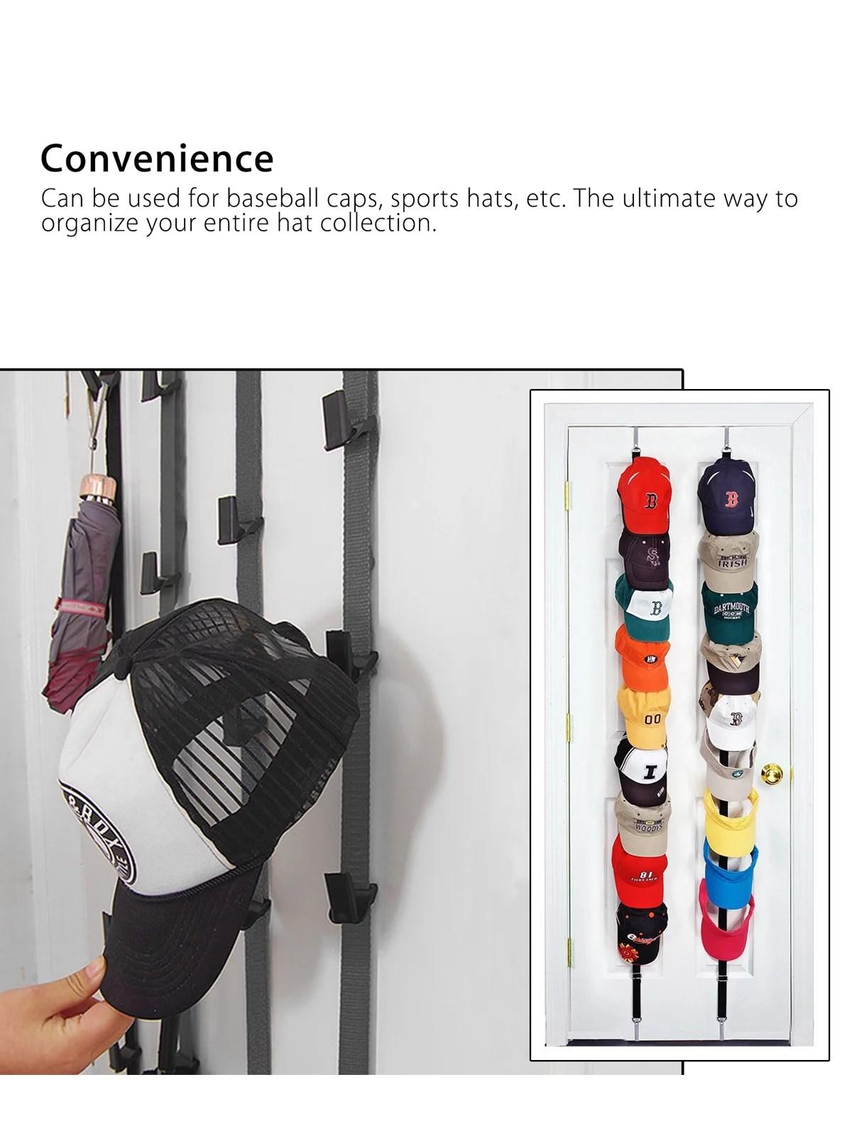 cap rack pro hanging closet hat organizer baseball cap organizer holds 16 caps