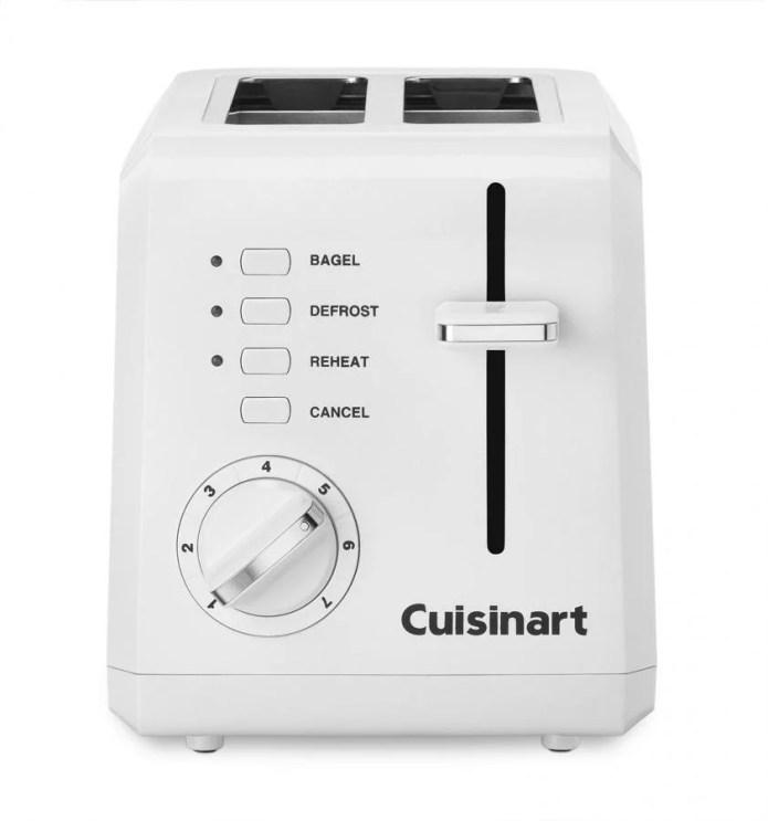 Cuisinart Plastic Compact 2 Slice White Toaster