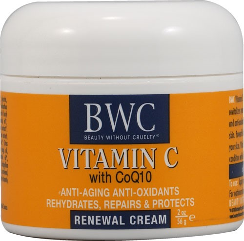 Beauty without Cruelty Renewal Cream Vitamin C with Coq10, 2 Oz