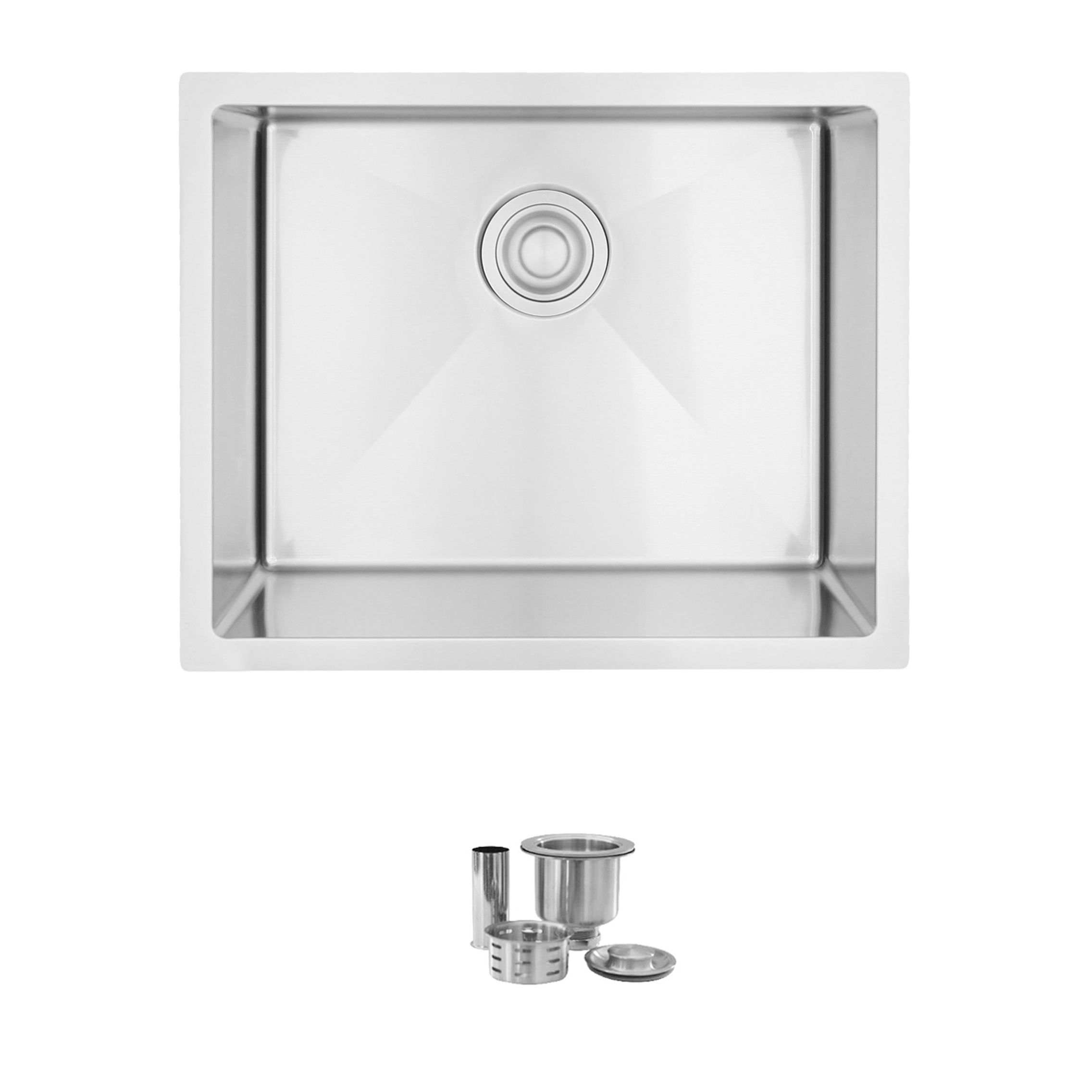 stylish 22 x 12 inch single bowl undermount and drop in stainless steel laundry sink