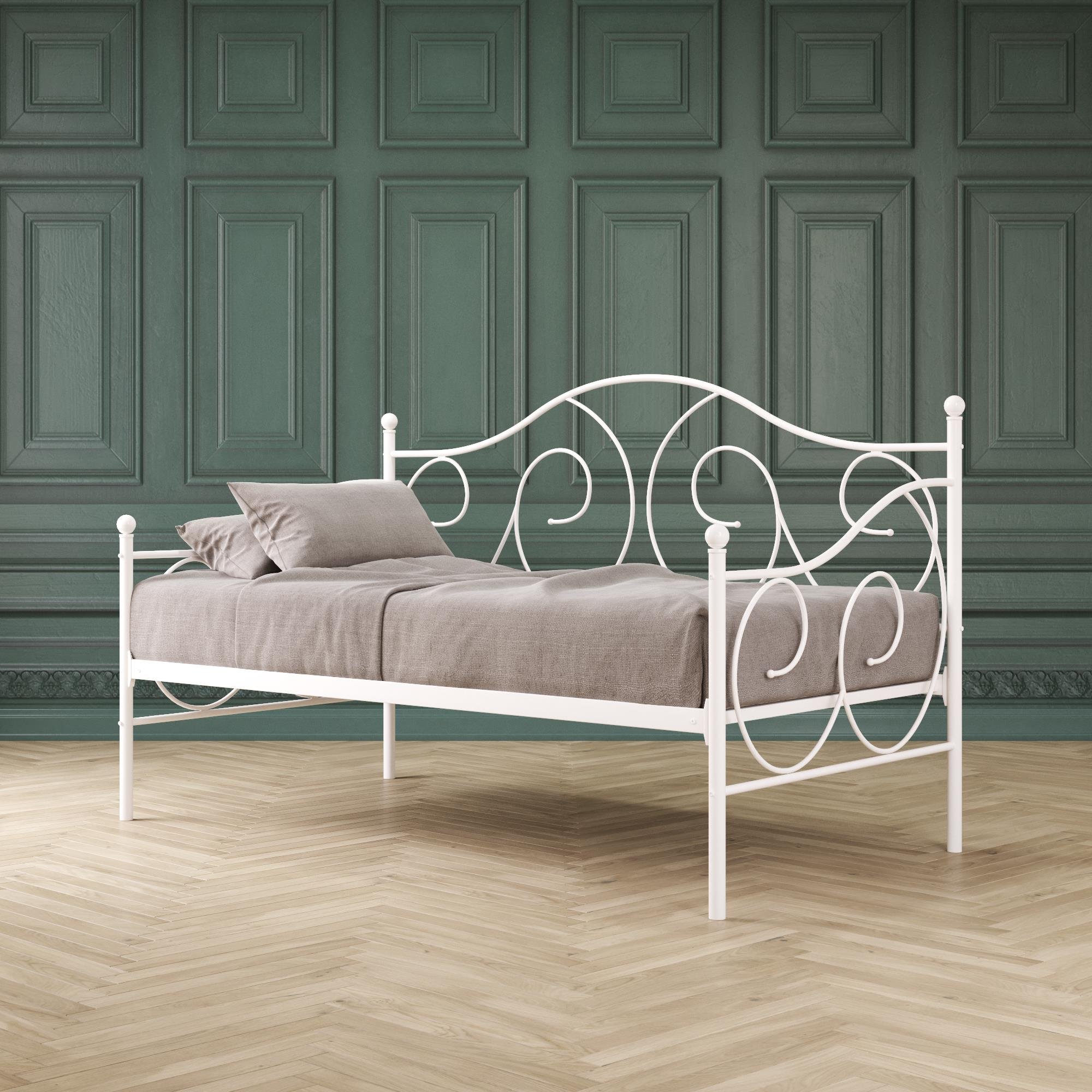 dhp victoria metal daybed twin white