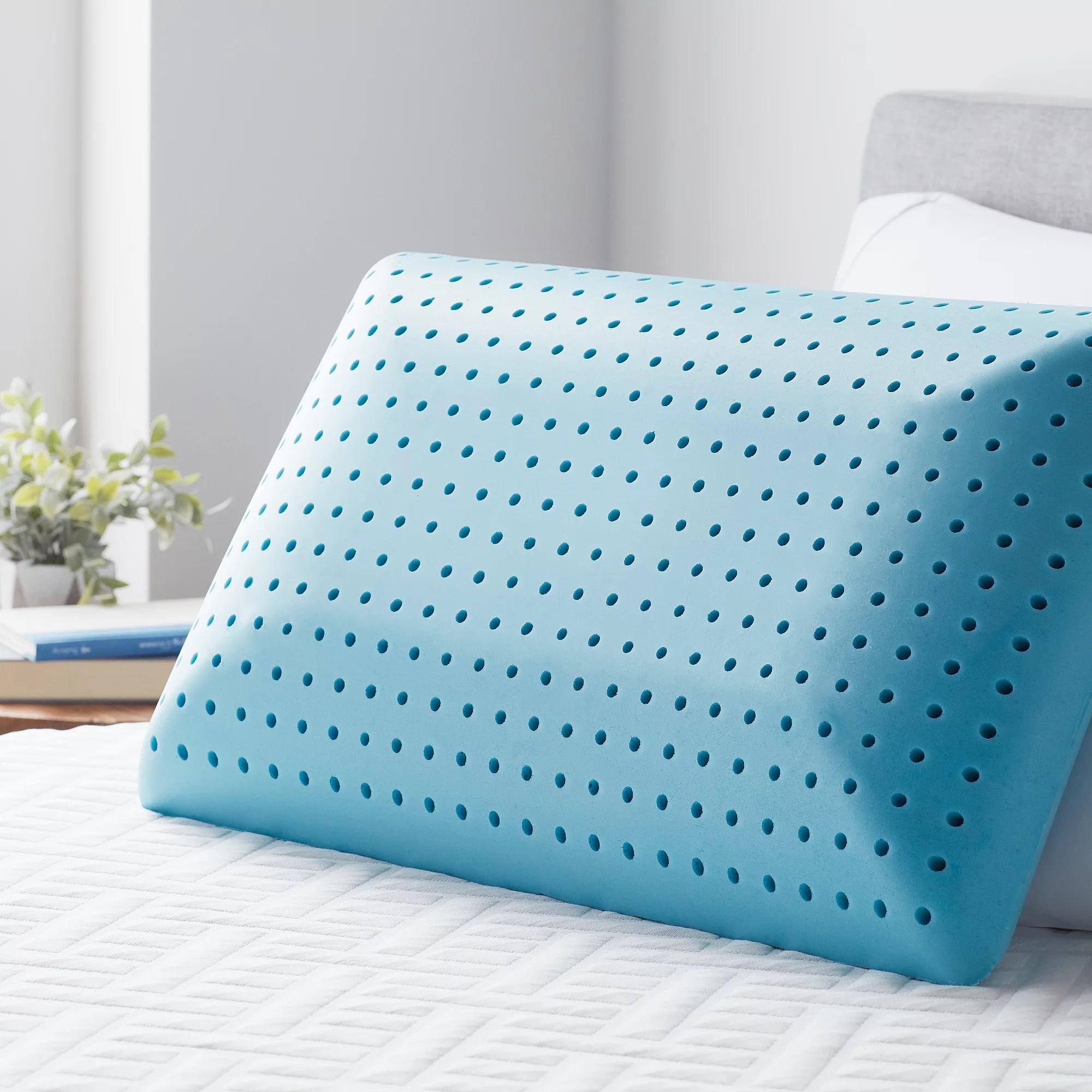 lucid advanced memory foam pillow standard walmart com