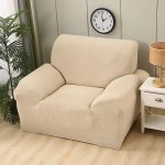 Solid Color Stretch Sofa Cover All Inclusive Anti Slip Couch Cover Soft Durable Sofa Slipcover Furniture Protector For 1234 Seater Cream Color Three Seats Walmart Com Walmart Com