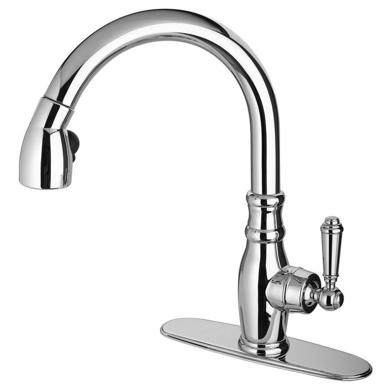 old fashioned single handle pull down spray kitchen faucet walmart com