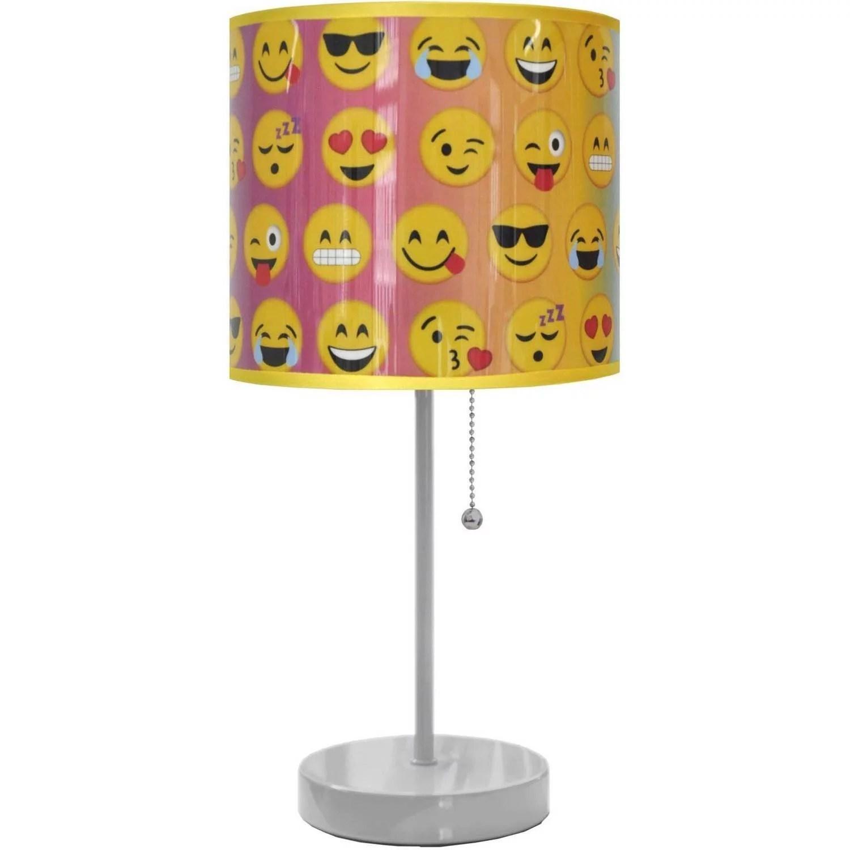 Emoji Table Lamp Plastic Study Shade Kids Bedroom Lighting