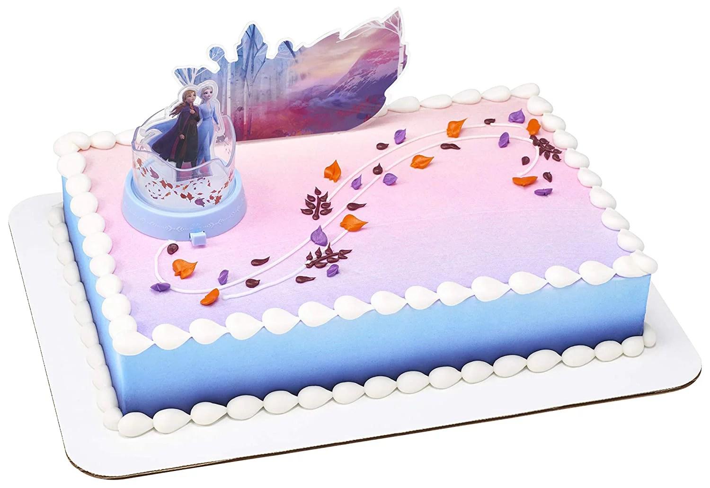 Decopac 24246 Decorations Disney Frozen 2 Mythical Journey Children Kids Birthday Party Cake Topper 2 Piece Multicolored Walmart Com Walmart Com
