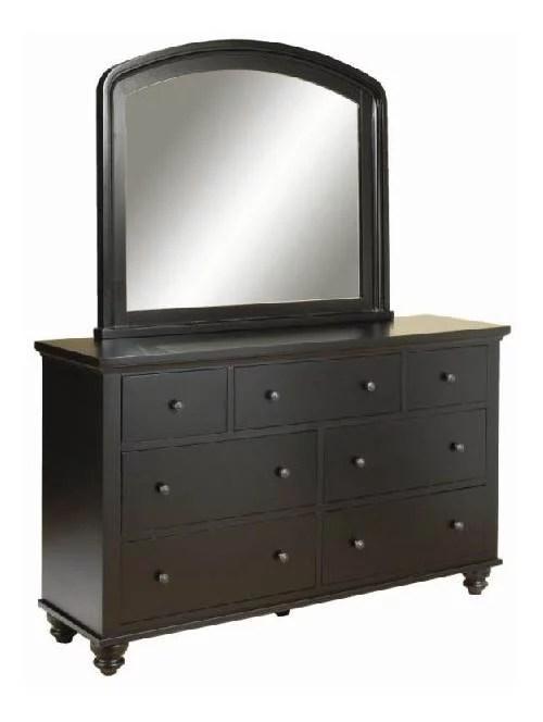 cambridge 7 drawer double dresser mirror black