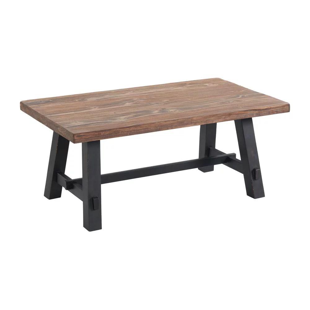 adam 42 l solid wood coffee table walmart com