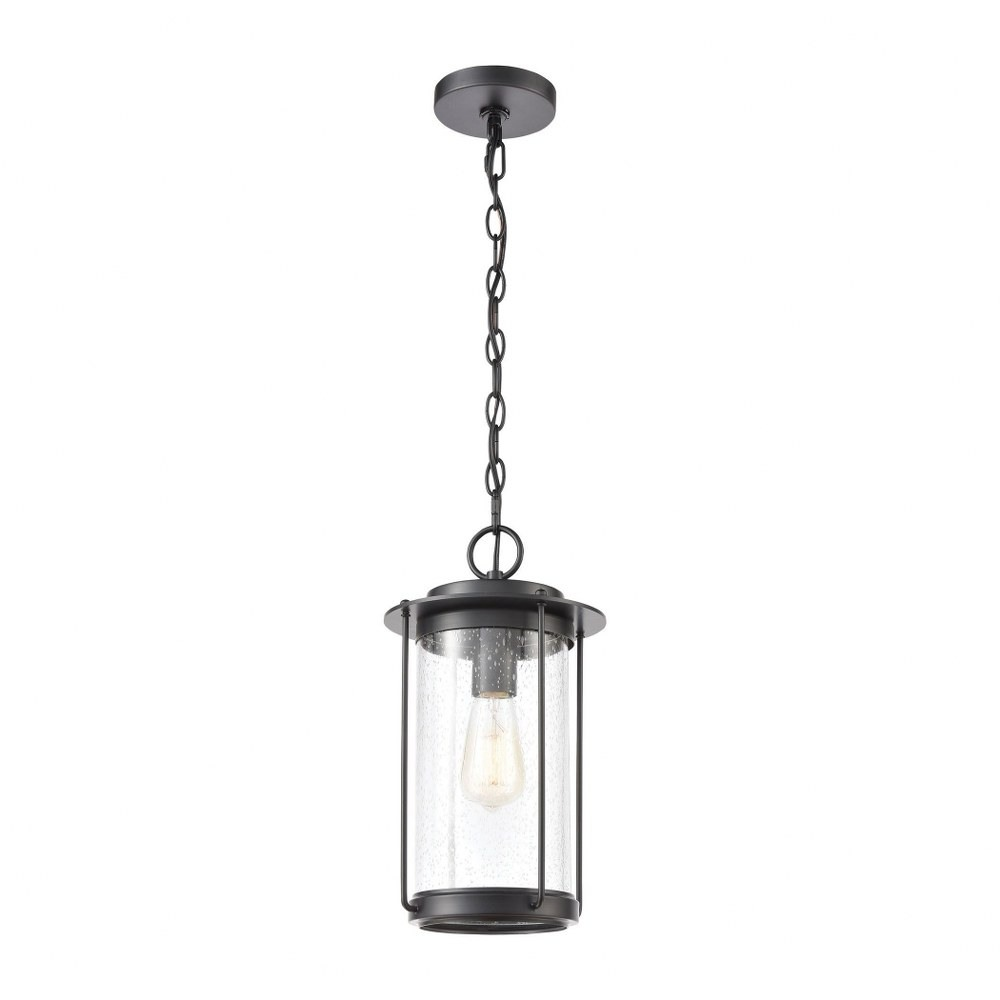 cylinder one light outdoor hanging pendant lantern transitional outdoor ceiling light with exposed