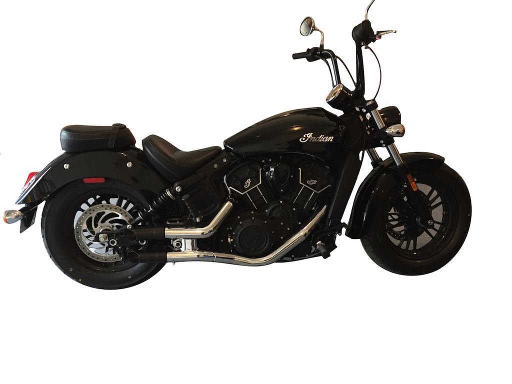 radiant cycles shorty gp exhaust for 2015 2019 indian scout sixty chrome walmart com
