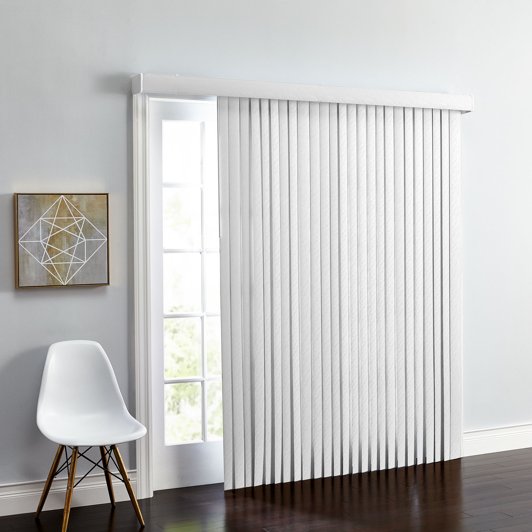 brylanehome embossed vertical blinds