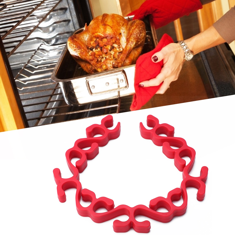 lyumo silicone roast rack silicone roasting rack silicone non stick microwave oven grill stand turkey baking tray holder roasting rack kitchen tool