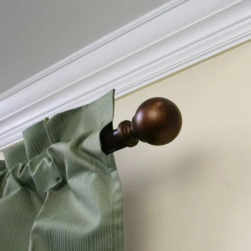 mainstays ball 1 dia adjustable 30 84 curtain rod bronze finish