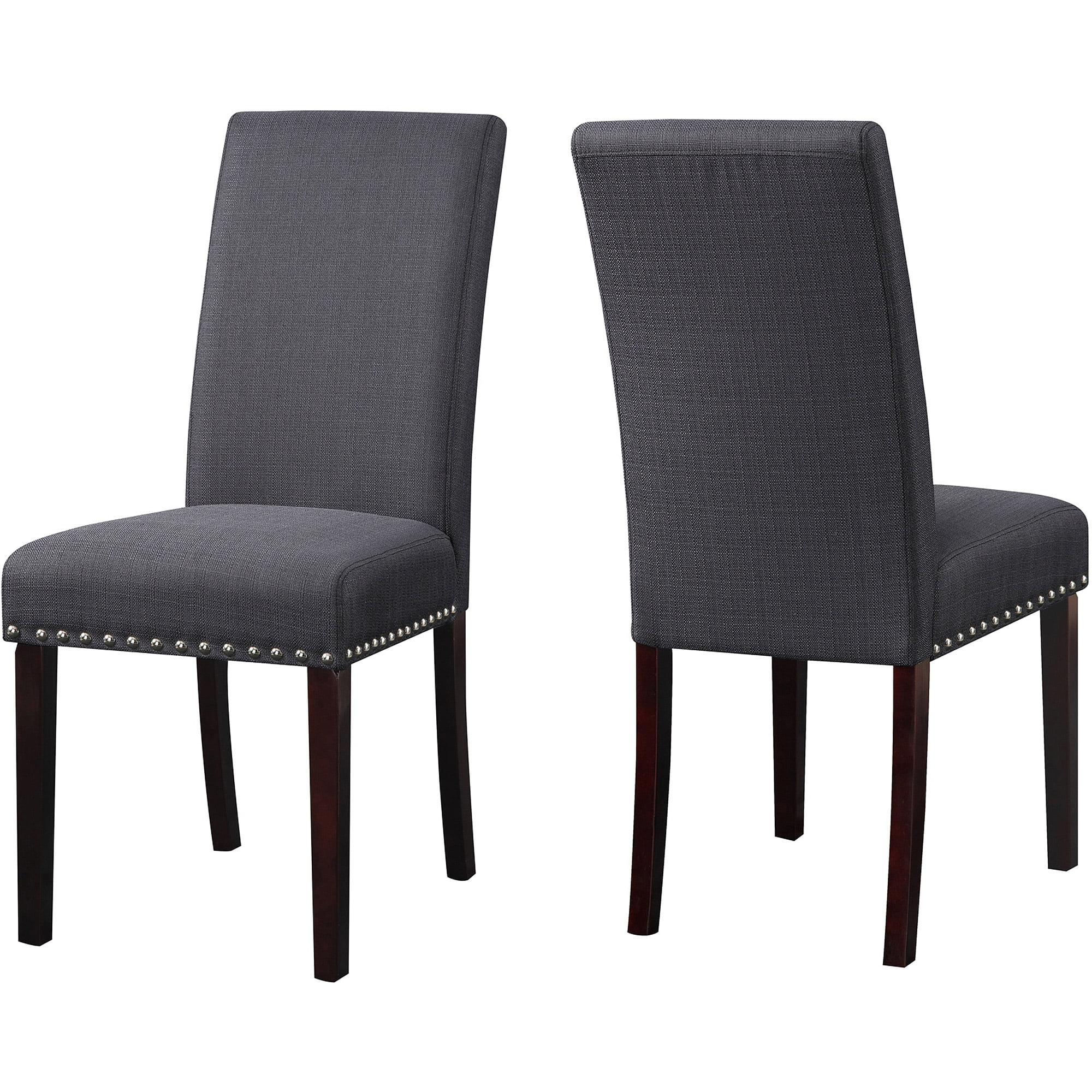 DHI Nice Nail Head Upholstered Dining Chair  2 Pack  Multiple Colors     DHI Nice Nail Head Upholstered Dining Chair  2 Pack  Multiple Colors    Walmart com