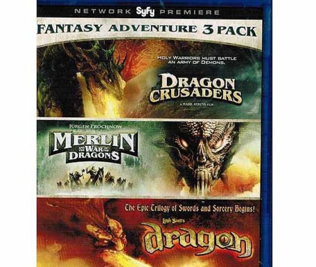 Fantasy Pack Dragon Crusaders Merlin And The War Of The Dragons Dragon Blu Ray Walmart Com