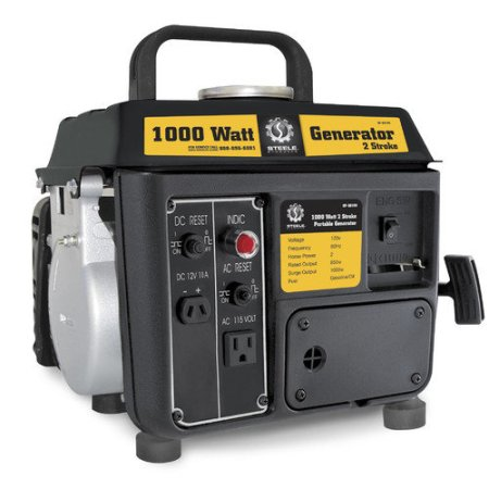 Steele Products SP-GG100 1,000 Watt 2-Cycle Gas Powered Portable Generator