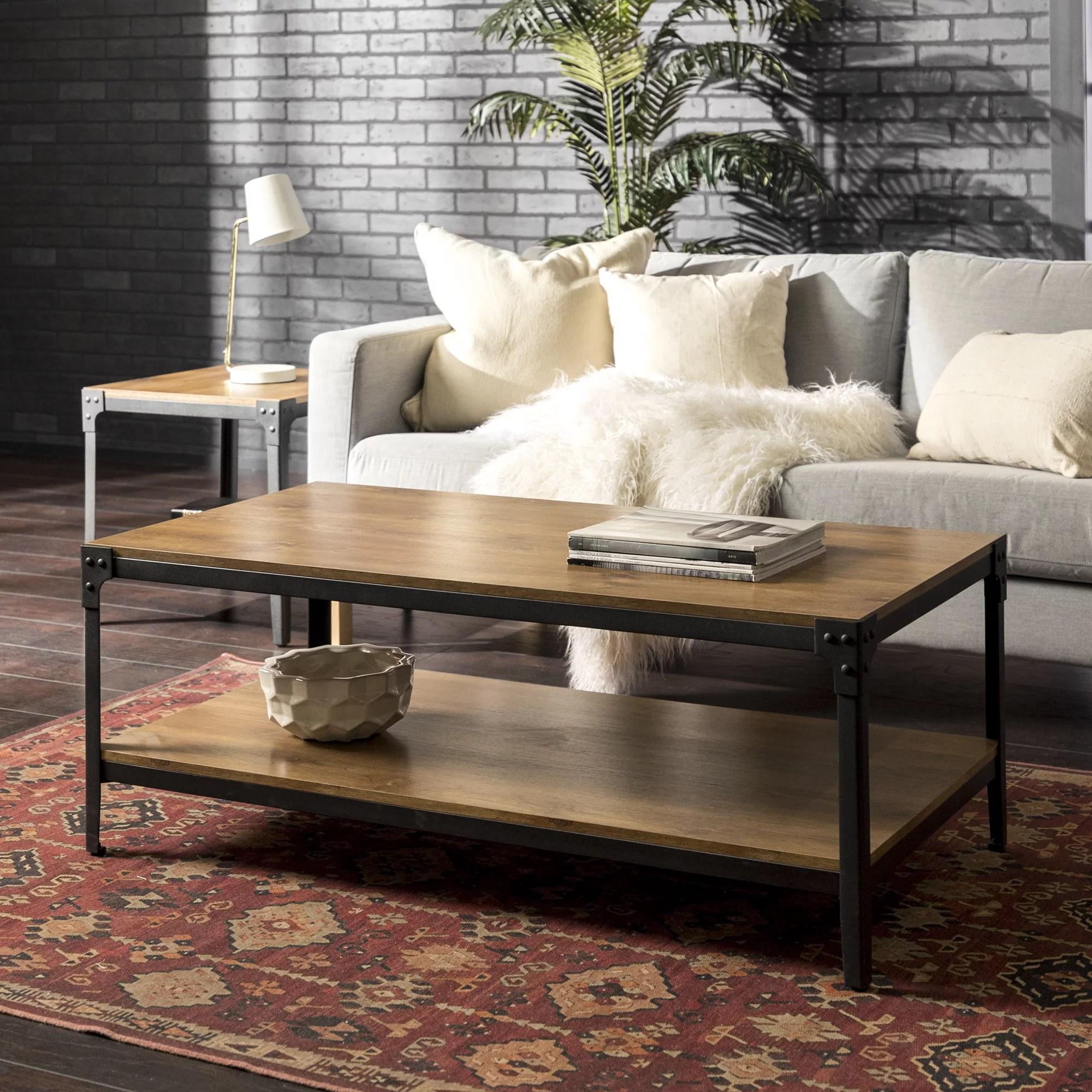 wilson riveted barnwood coffee table by river street designs walmart com