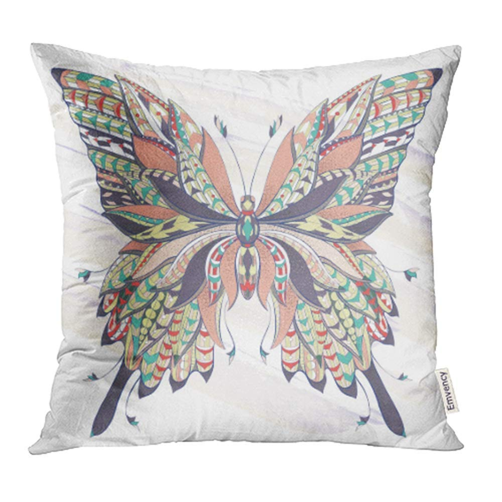 arhome patterned butterfly on the ornate moth papillon tattoo design it may be of pillow case pillow cover 18x18 inch throw pillow covers