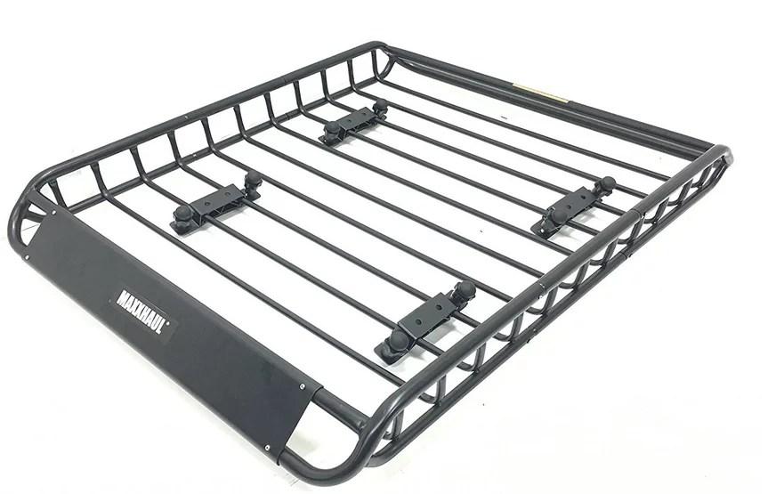 maxxhaul 70115 steel roof rack 150 lb capacity 1 pack walmart com