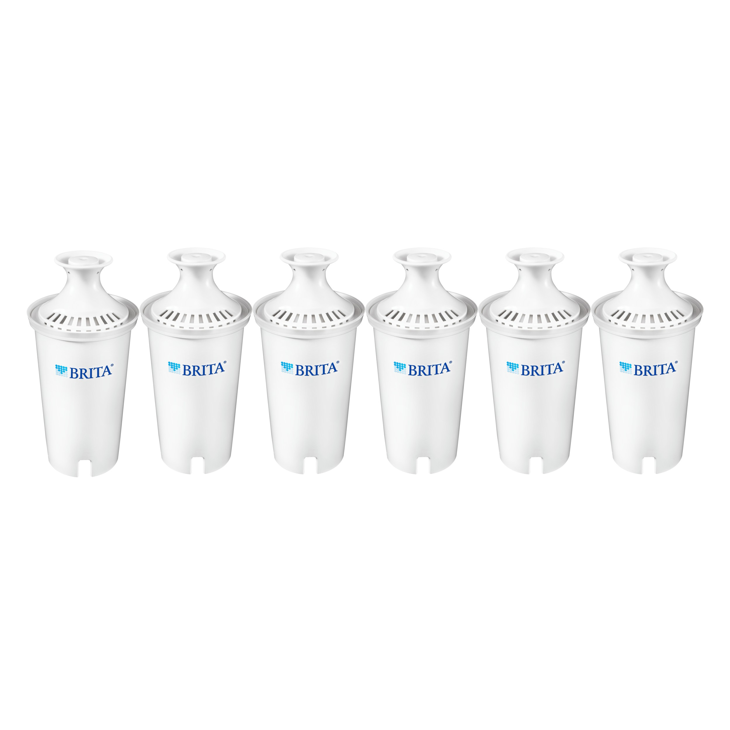 Brita Standard Water Filter Replacements, BPA Free, 6 Count